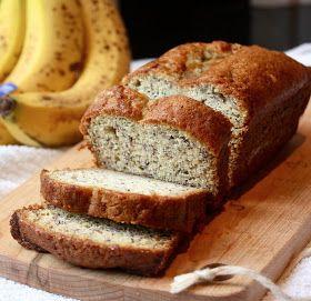 Cannella Vita: julia's banana bread- dark pan at 350 is too dark- maybe lower baking temp? Or a glass pan?