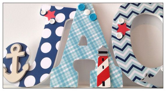 Nautical. Boats. Wall letters for boys Nursery or by dmh1414, $14.50