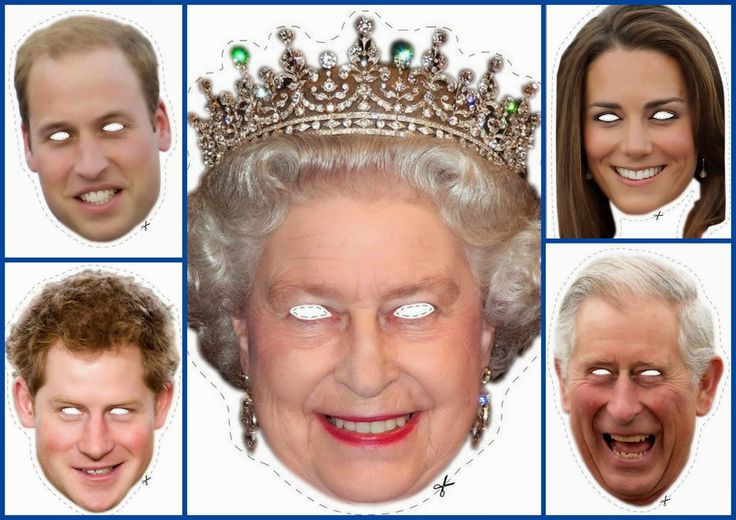 English Royal Family Free Printable Masks. Well aren't these just flat terrifying