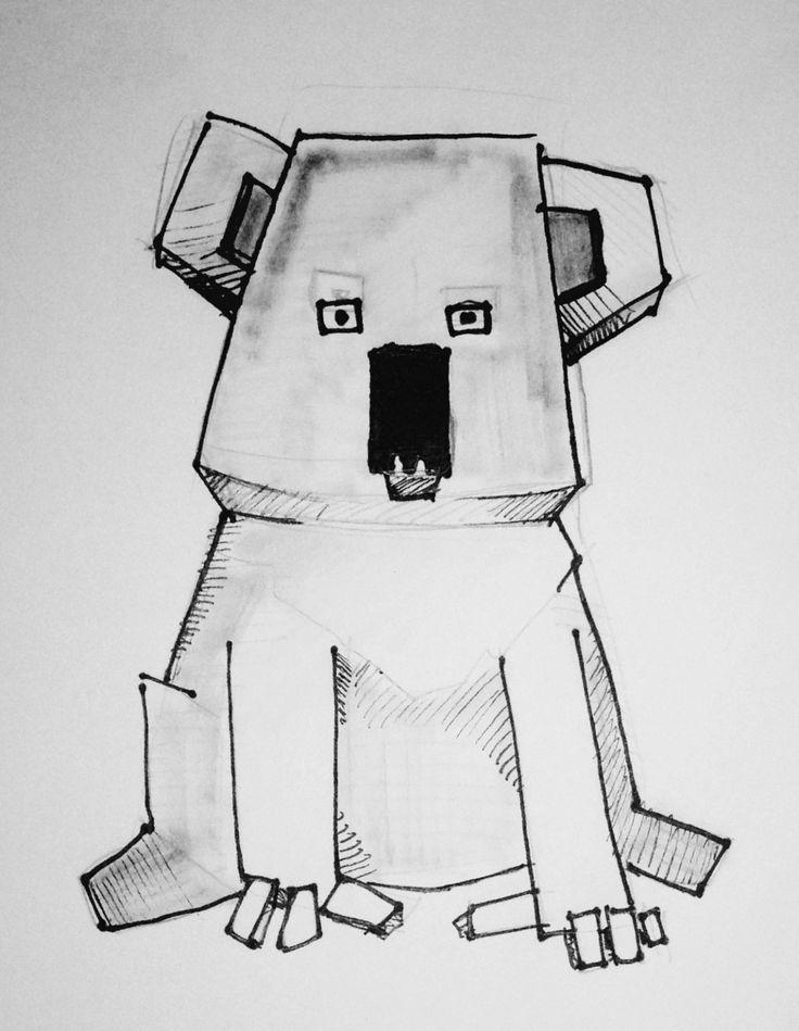 Sketch for a primitive based 3D model.