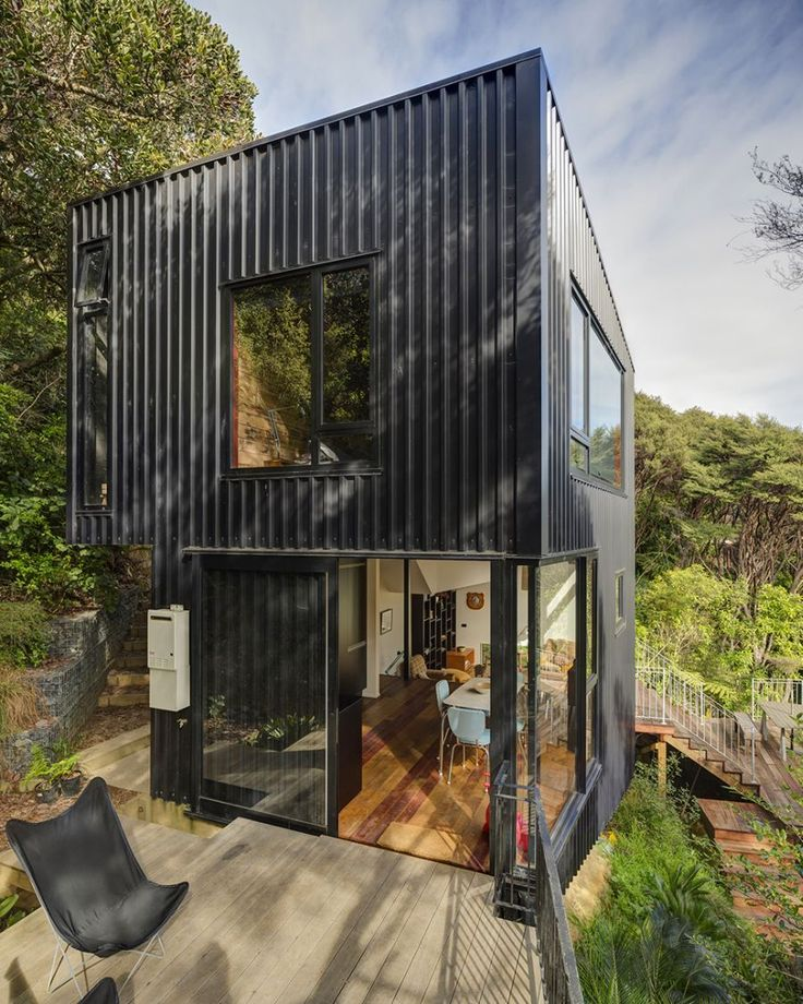 Exterior of Blackpool House in New Zealand Blends Split Level Design With an Open Interior