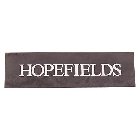 Buy The House Nameplate Company Personalised Slate House Sign, 1 Line, W35.5 x H10cm Online at johnlewis.com