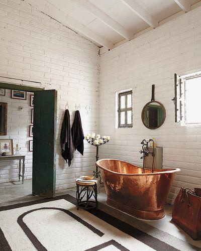 Bathroom copper tub