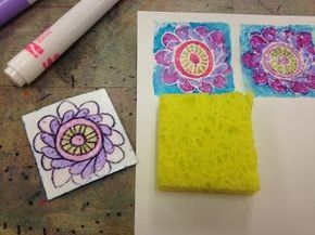Sponge Printmaking Simple And Easy
