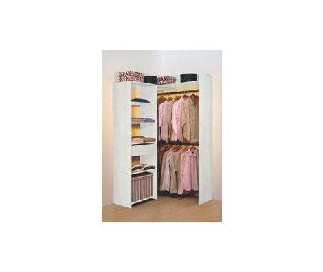kit extensible flex 1t frene blanc roy dressing. Black Bedroom Furniture Sets. Home Design Ideas