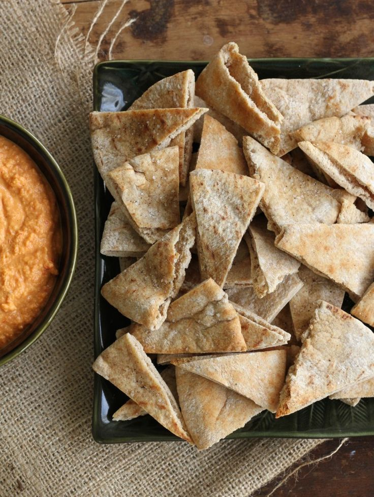 Quick and Easy Pita Chips via Brittany's Pantry