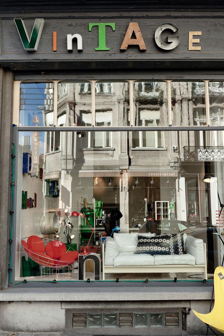 Vintage store à 1050 Bruxelles, 33, rue Darwin // Brussels shop #belgium