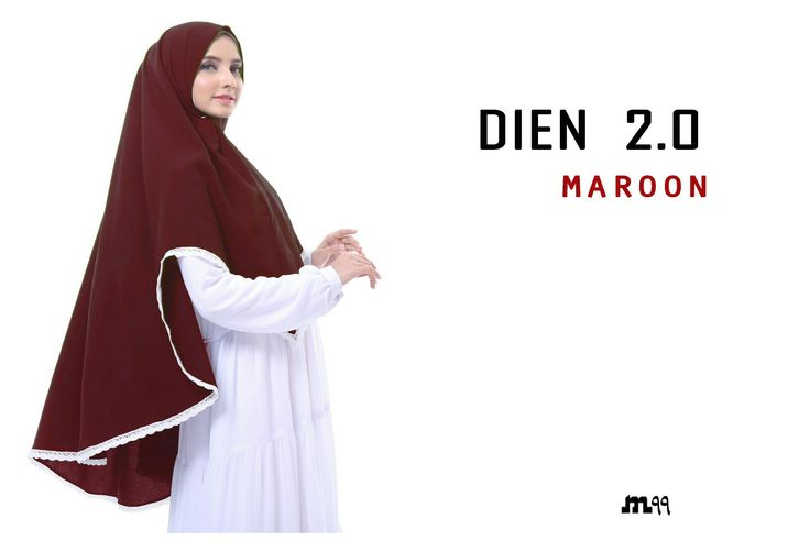 Instant khimar with lace