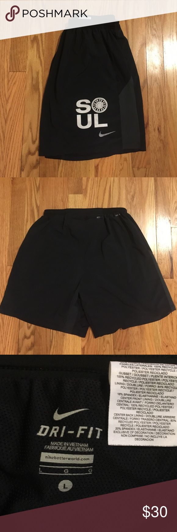 SoulCycle Nike pro combat shorts Gently used. Zipper pocket in back. Nike pro combat compression shorts built in Nike Shorts Athletic