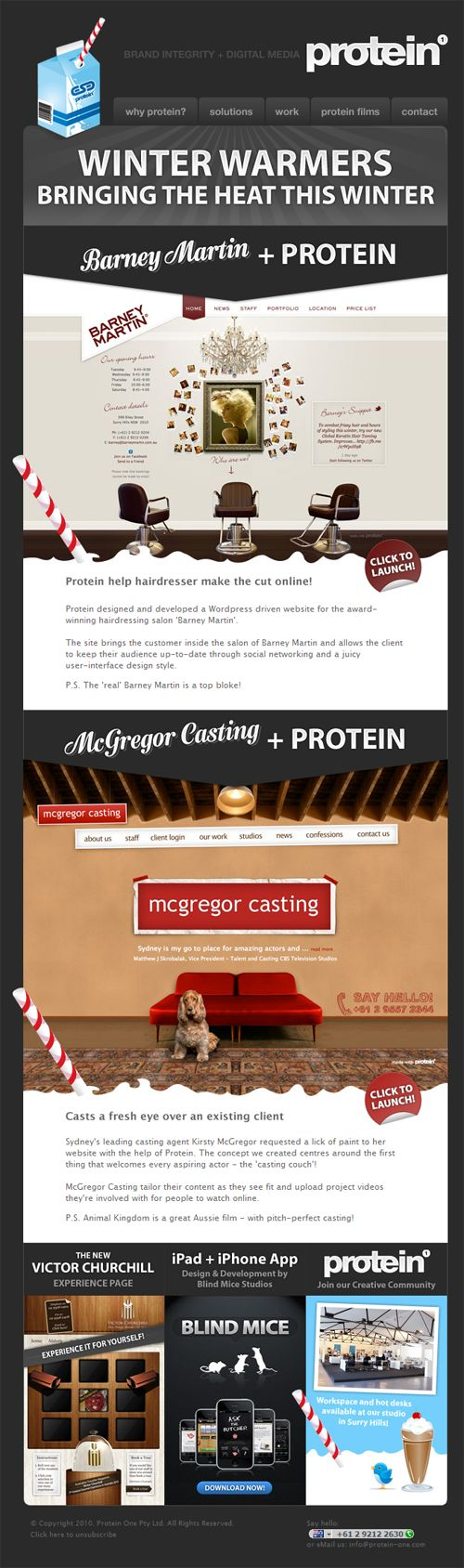 Beautiful Email Newsletters » Blog Archive » Protein