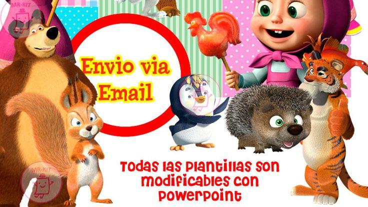 Kit Imprimible Masha Y El Oso Dise 241 A Tarjetas Y Mas A 59