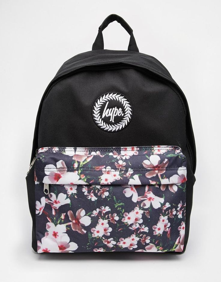 Hype Backpack with Floral Front Pocket