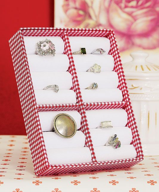 porta anillos de carton