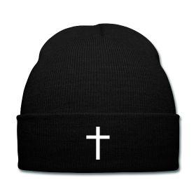 White Cross Beanie - Available Here: http://sondersky.spreadshirt.com.au/white-cross-A18434672