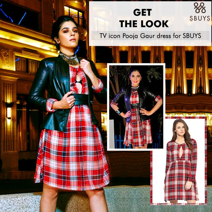 "SbuyS: ""Women is more sexier when she is comfortable in her clothes"" Style like SbuyS calendar girl! Check out Pooja Gor in red Tartan check Mini length dress with Cut-out detail and Cris-cross back detail @ www.sbuys.in #sbuys #sbuystellycalendar #tellycalendargirl #sbuysreddress #casualdress #celeblookalike #womenwear #fashionableclothing"