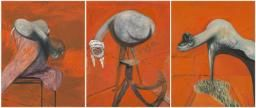 Francis Bacon 'Three Studies for Figures at the Base of a Crucifixion', c.1944 © Tate