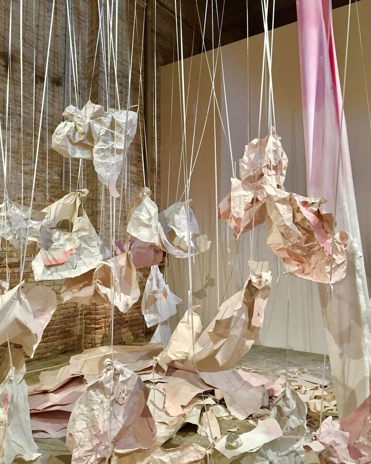 Karla Black, Presumption Prevails, 2017, plaster powder, powder paint, cartridge paper, cotton wool, cellophane, emulsion paint, acrylic paint, oil paint, body paint, sugar paper, chalk, ribbon, nail polish, @labiennale Venice through November 26. Visit artforum.com for Venice Biennale coverage, including participating artists' picks of other works that resonate with them and for Michelle Kuo's conversation with curator Christine Macel. #karlablack #labiennale #veniceshows