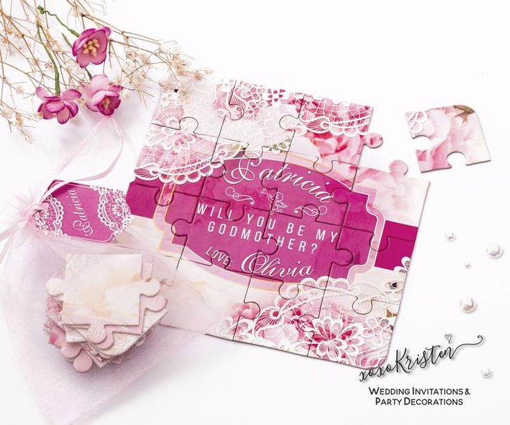 Godmother Puzzle  #puzzle #handmade #cute #handcrafted #fashion #picoftheday #wedding #godmother #personalized #custom #bridal #invitations #birthday