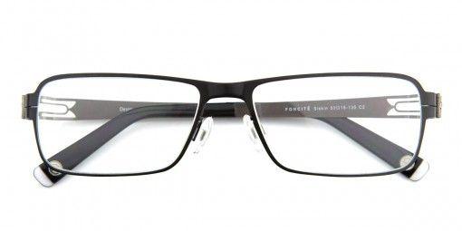 Foncité  Siskin Black & Gunmetal  - Mens Prescription Glasses
