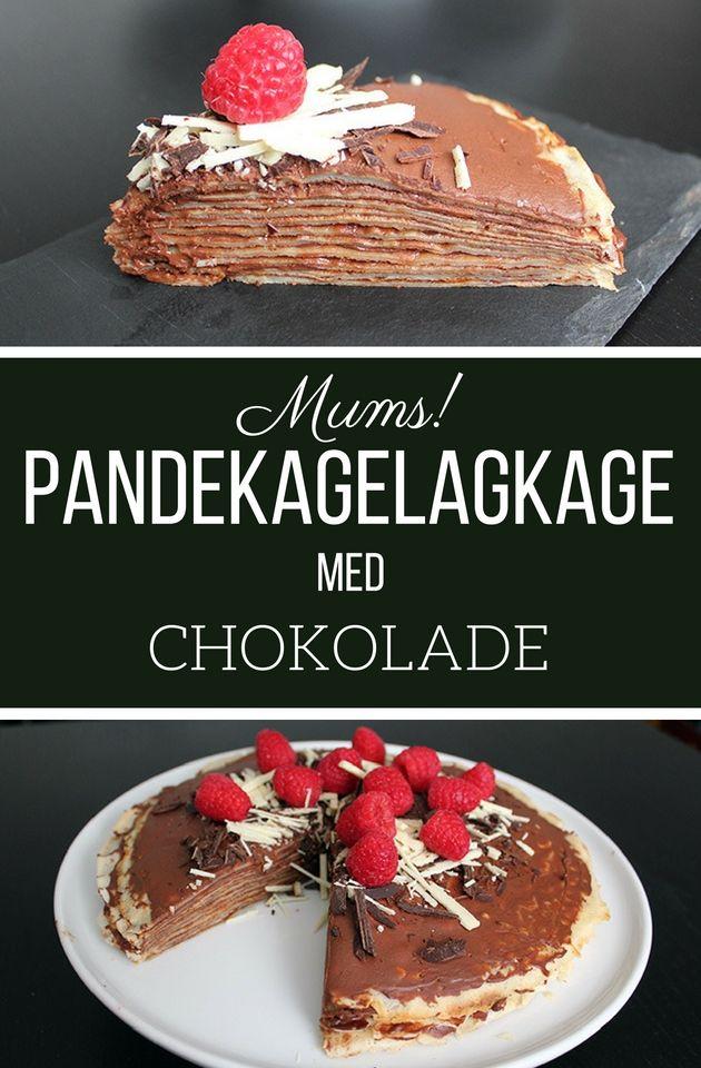 Wow, det her er altså bare for lækkert. En stak pandekager lagt sammen med en fantastisk chokoladecreme.