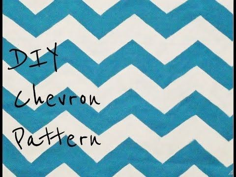 DIY Paint A Chevron Pattern From Scratch - YouTube