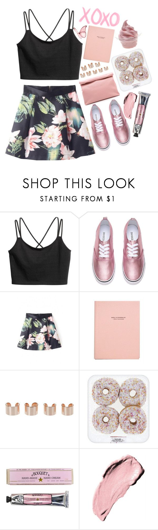 """""""Rock Bottom"""" by lilyyy24 ❤ liked on Polyvore featuring H&M, Marie Turnor, Maison Margiela, Disney and Soap & Paper Factory"""