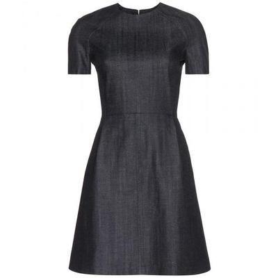 Victoria Beckham Denim - Denim dress #dress #victoriabeckham #offduty #women #designer #covetme #victoriabeckhamdenim