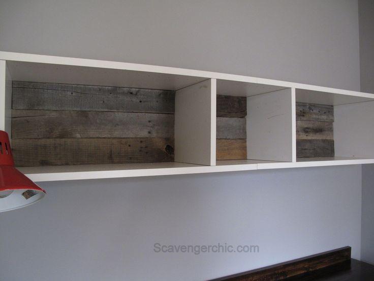Teenage Boys Bedroom, over the desk shelves, IKEA hack, pallet wood backing  for