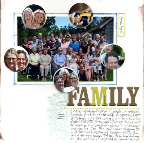 FamilyScrapbook Layouts, Families Aliedward, Edward Scrappy, Families Ali Edward, Families Photos, Families Scrapbook, Large Families, Ali Edwards, Scrapbooking Families
