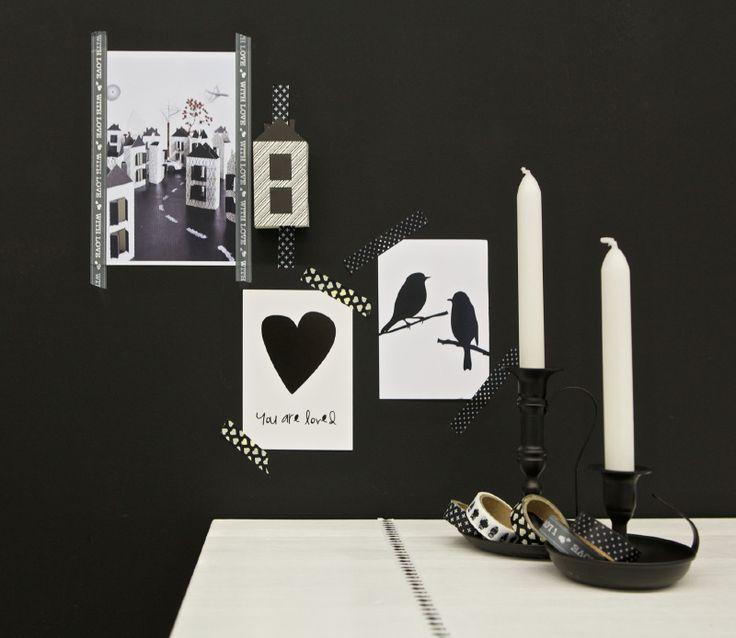 Masking tape Zwart/grijs (set van 5) BePureHome