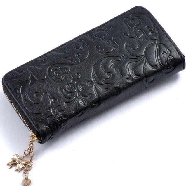 Fashion Women wallets Genuine Leather Wallet for iPhone 6/5/5S/6S/6 Plus Long zipper Cowhide Leather Purse for Samsung S4/S5/S6