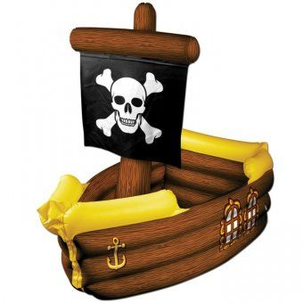Inflatable Pirate Ship Drinks Cooler - Pirate Party Decorations