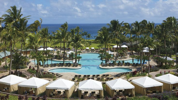 Ritz Carlton, Kapalua - Maui, HI USA. Yes, Kapalua's weather is more windy and wet, but that makes it fun. There's still plenty of sunshine, and being in a cabana on a football weekend watching all the games all day on NFL Sunday Ticket is the ultimate in decadence. I like Kapalua because there's enough to do that you don't have to spend you vacation driving around.