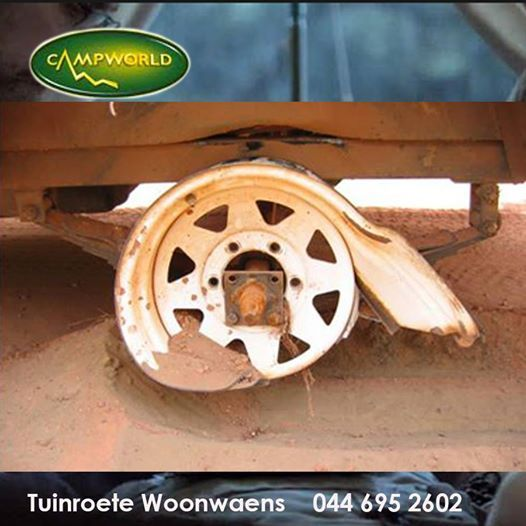 On a serious note this Saturday morning. Tuinroete Woonwaens Campworld MB would like to remind you that most accidents occur due to the lack of maintenance on your caravan or trailer. Have yours checked out by our professional team before you take to the road this Easter weekend. #lifestyle #outdoorliving #camping