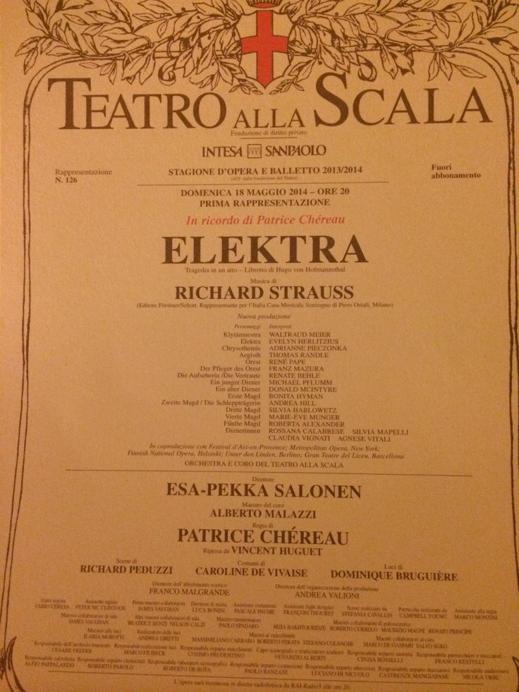 #elektra richard #strauss