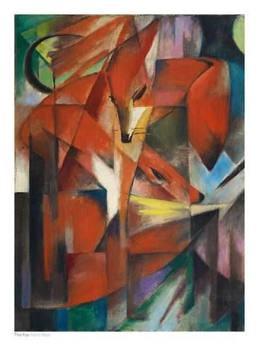 The Fox, c.1913 Prints by Franz Marc - AllPosters.co.uk