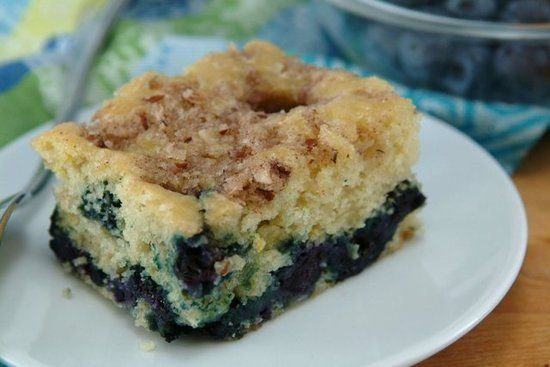 skinny blueberry-lemon coffee cake