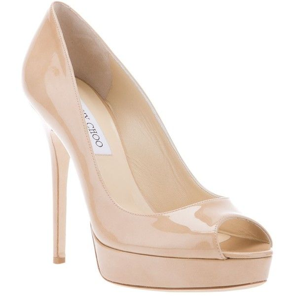 Jimmy Choo Peep Toe Pump found on Polyvore