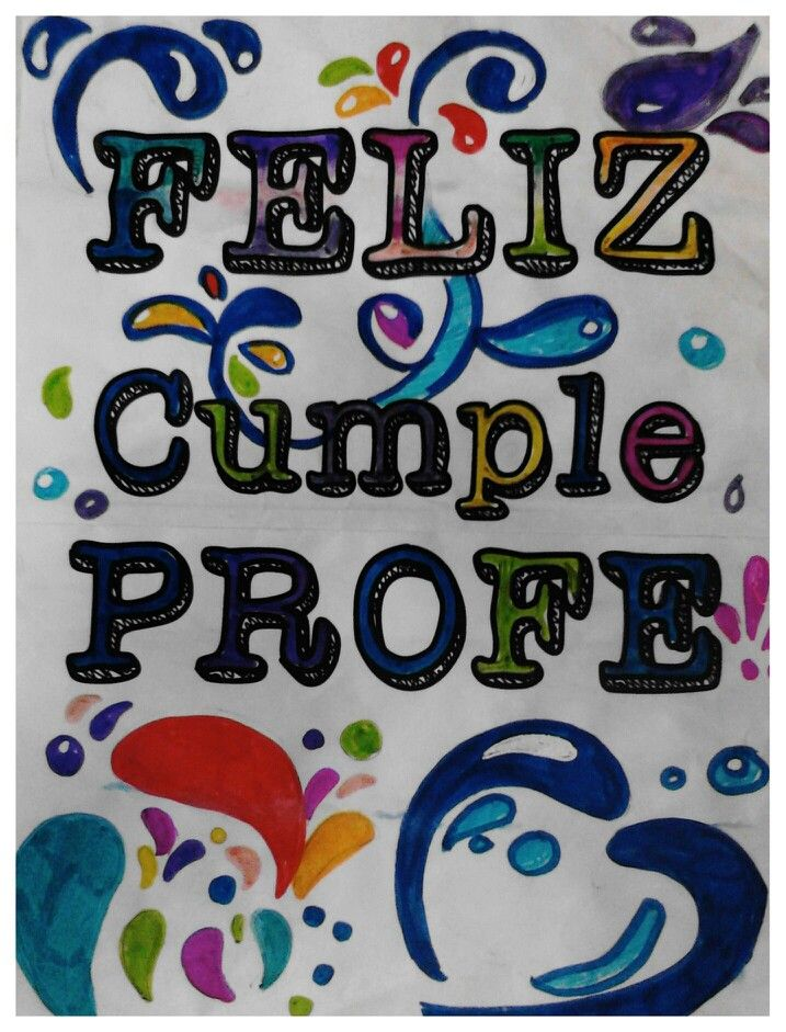 Feliz Cumple Profe Tarjetas de cunpleaños Pinterest