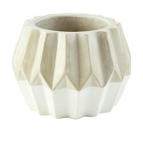 Dipped Geo Pot - White $12.00