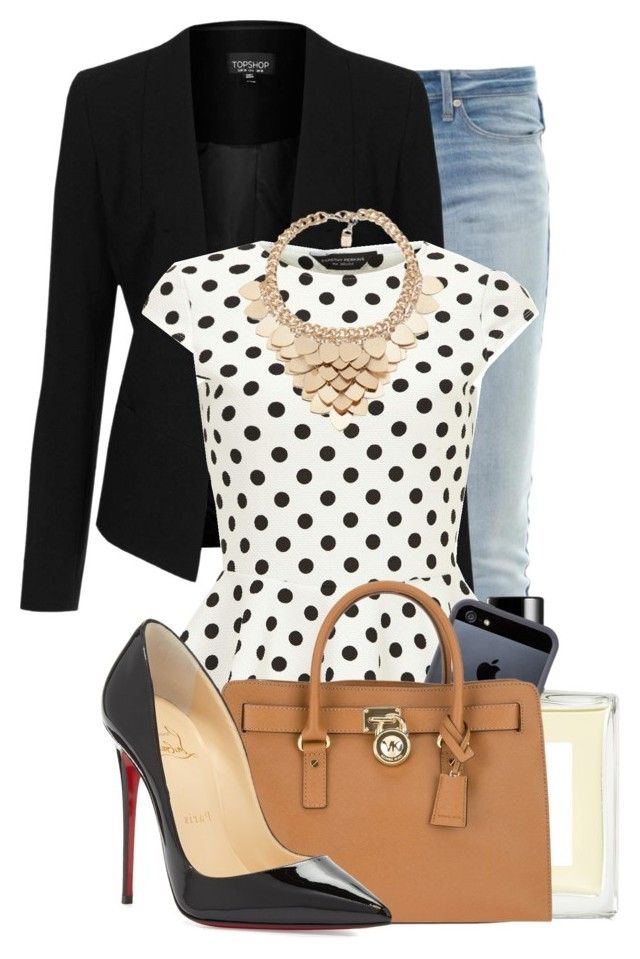 Untitled #650 by autumnbeauty on Polyvore featuring polyvore moda style Dorothy Perkins Topshop Marc by Marc Jacobs Christian Louboutin MICHAEL Michael Kors Kardashian Kollection Tavik Eight & Bob fashion clothing