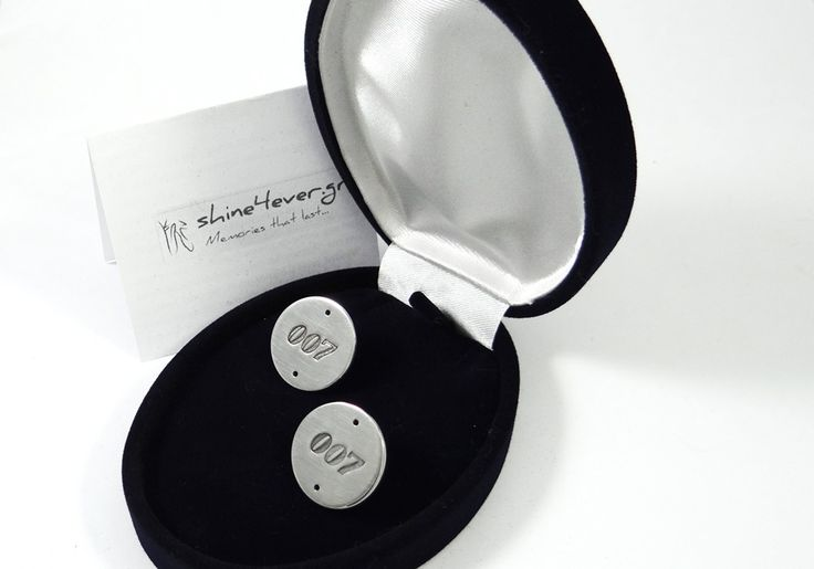Cuff links made of solid silver 925°. By Shine4ever.gr