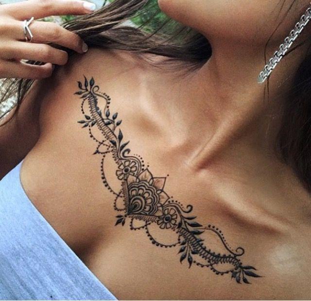 Chest henna