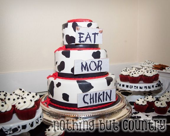 Cake at a Chik-fil-A party #chikfila #partycake