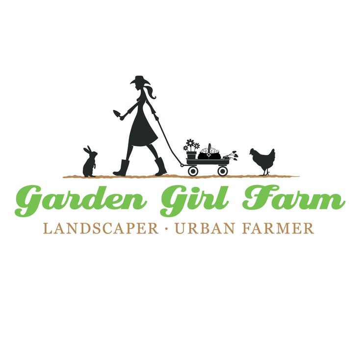 Garden Girl Farm brand identity / logo by Axion Design.