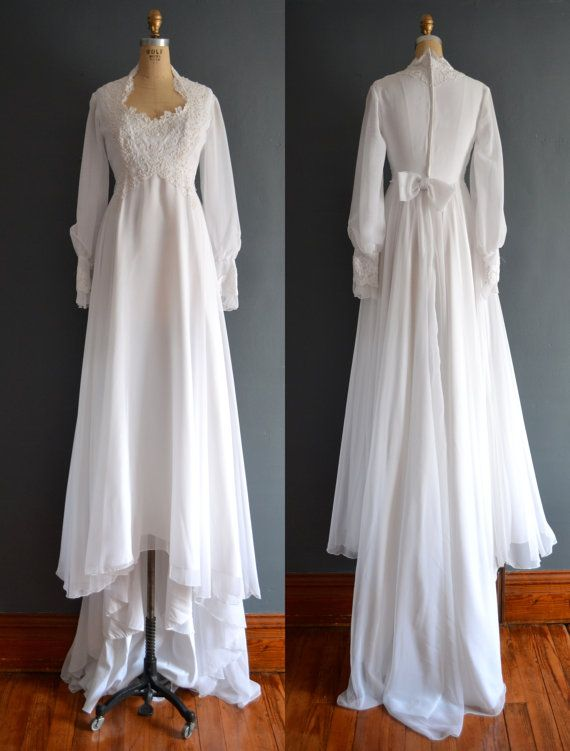 70s wedding dress / 1970s wedding dress / Candela by BreanneFaouzi...If I could get married again, I would get married in this dress. It is absolutely gorgeous.