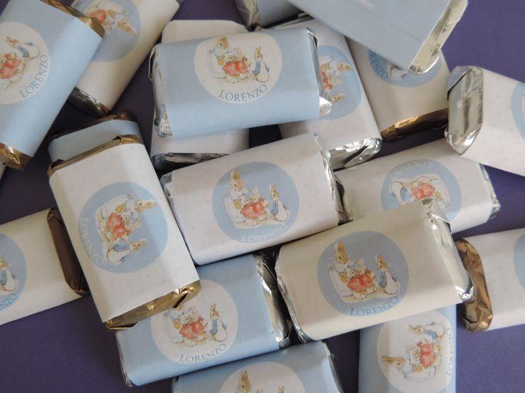 Chocolates personalizados para fiesta de Peter Rabbit