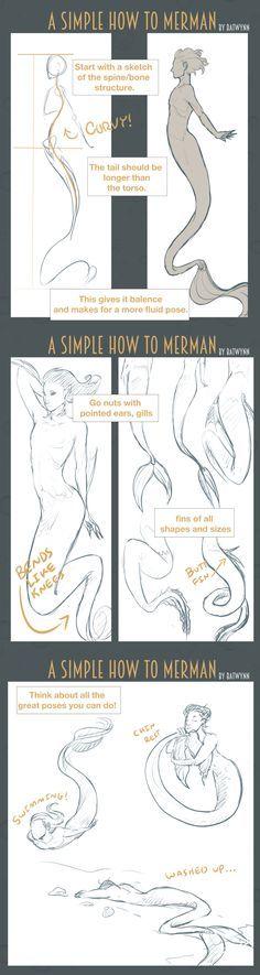 How to Draw Merpeople by Batwynn.deviantart.com on @DeviantArt