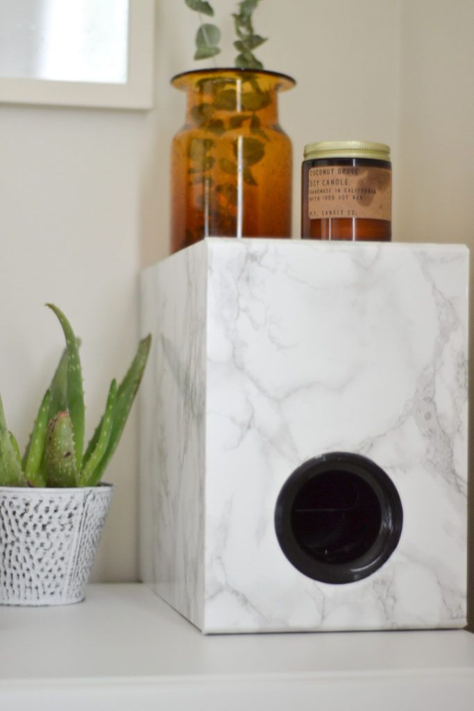 Marbled Subwoofer DIY Subwoofer Hack marble contact paper                                                                                                                                                                                 More