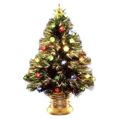 32 pre lit fiber optic fireworks ornament tree multi lights find artificial flowers and. Black Bedroom Furniture Sets. Home Design Ideas